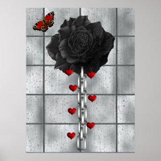 Black Rose Of Love Poster
