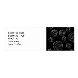 Black Rose Pattern Design. Business Card