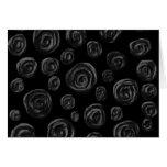 Black Rose Pattern Design. Cards