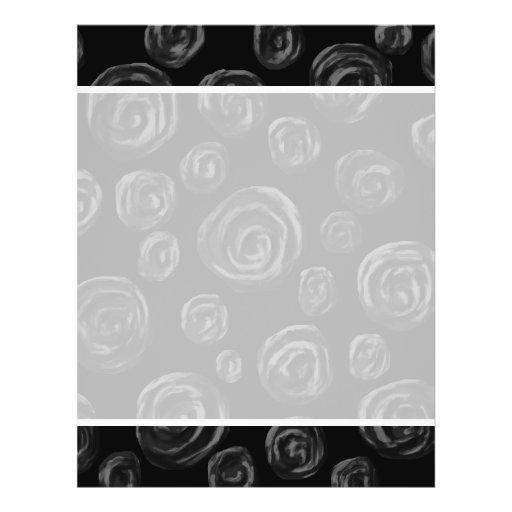 Black Rose Pattern Design. Personalized Flyer