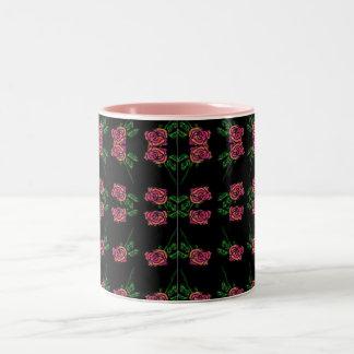 Black Rose Pattern Mug