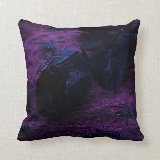 Black Rose Reversible Pillow