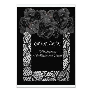 Black Rose RSVP Card