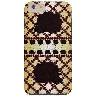 Black Rose Ruby Trellis Goth Princess CricketDiane Tough iPhone 6 Plus Case