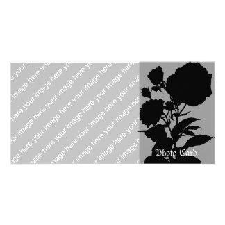 Black Rose Silhouette Card