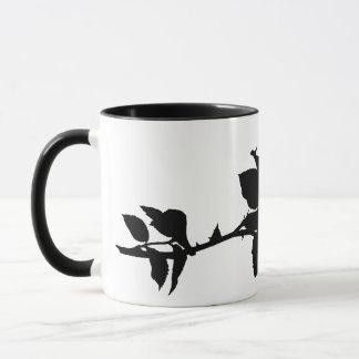 Black Rose Silhouette Mug