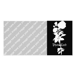 Black Rose Silhouette Photo Card