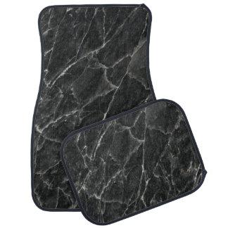 Black Rose Stone Pattern Background Car Floor Mat