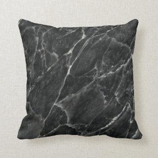 Black Rose Stone Pattern Background Throw Pillow