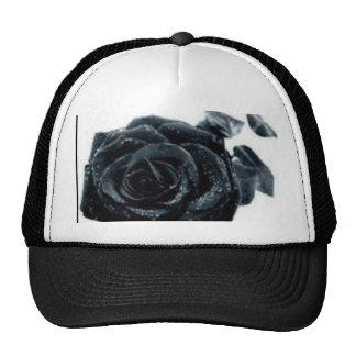black rose trucker hat