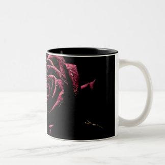 black rose Two-Tone coffee mug