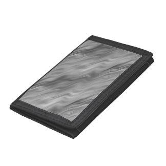 Black Rose Wavy Texture Tri-fold Wallets