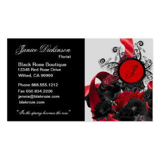 Black Roses Custom Monogrammed Business Cards