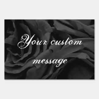 Black roses floral photo sign