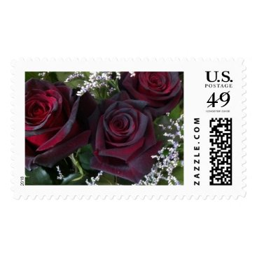 USA Themed 'Black' Roses Postage Stamp