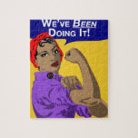 """Black Rosie-Weve Been Doing It Jigsaw Puzzle<br><div class=""""desc"""">Black women know we can do it. That&#39;s because we&#39;ve been doing it for hundreds of years. Providing for our families,  protecting our loved ones,  achieving our dreams. There&#39;s no end to what we can do. Show your pride in who you are and what you will accomplish.</div>"""