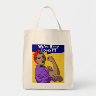 Black Rosie-Weve Been Doing It Tote Bag