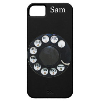 Black Rotary Dial iPhone 5 Case