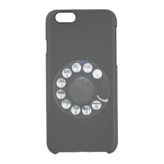 Black Rotary Dial iPhone 6 Clearly™ Deflector Case