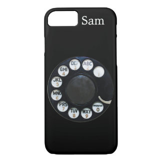 Black Rotary Dial iPhone 7 case