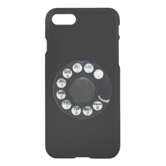 Black Rotary Dial iPhone 7 Clearly™ Deflector Case