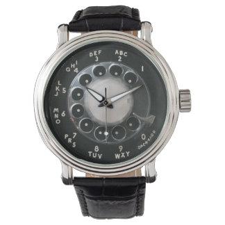 Black Rotary Phone Dial Watch