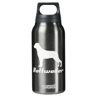 Black Rottweiler Thermos Bottle