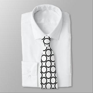 Black Round Pattern Neck Tie