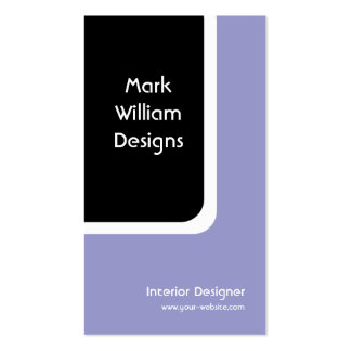 Black Rounded Rectangle Business Card
