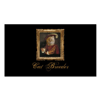 Black Royal Cat Breeder Prince Kitty Card Business Cards