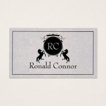 Black Royal Horse Emblem Grey Cool Card