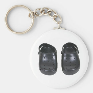 Black rubber clogs keychain