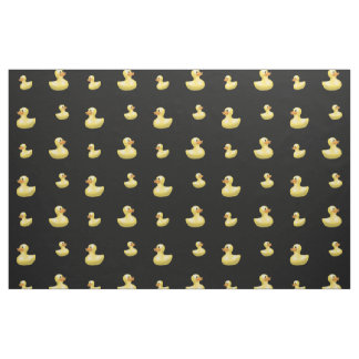 Black rubber duck pattern fabric