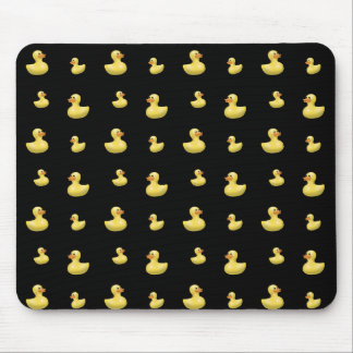 Black rubber duck pattern mouse pad