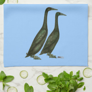 Black Runner Ducks Towel