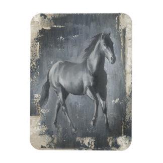 Black Running Stallion Magnet