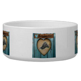 Black russian Terrier Bowl