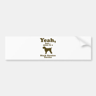 Black Russian Terrier Bumper Sticker