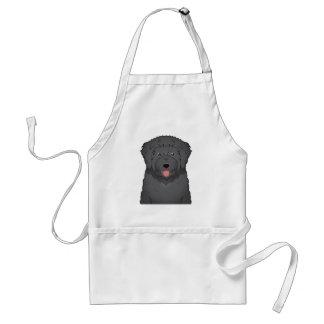 Black Russian Terrier Cartoon Adult Apron