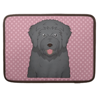 Black Russian Terrier Cartoon MacBook Pro Sleeve