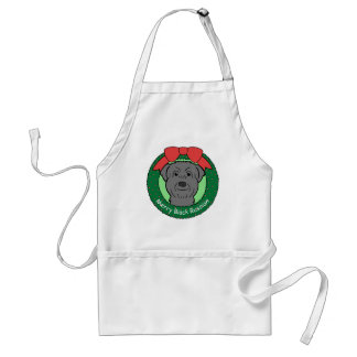 Black Russian Terrier Christmas Adult Apron
