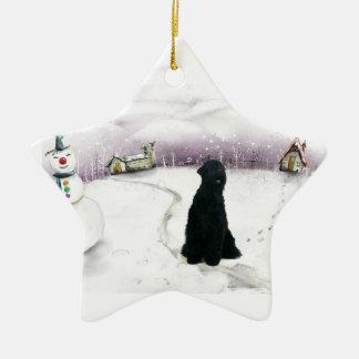 Black Russian Terrier Christmas ornament