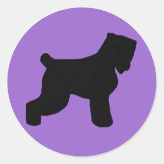 Black Russian Terrier Classic Round Sticker