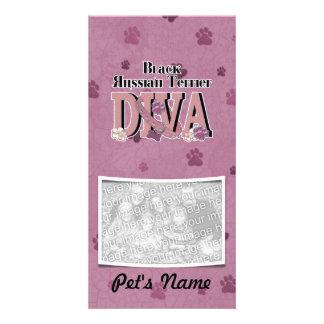 Black Russian Terrier DIVA Photo Card