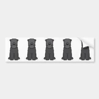 Black Russian Terrier Dog Cartoon Bumper Sticker