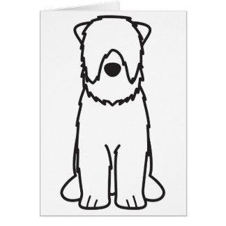 Black Russian Terrier Dog Cartoon Card