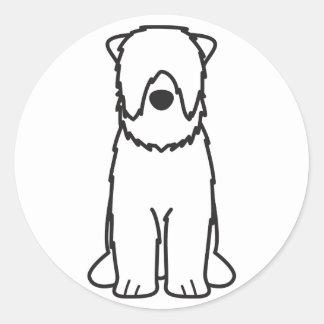 Black Russian Terrier Dog Cartoon Classic Round Sticker