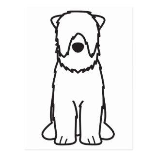 Black Russian Terrier Dog Cartoon Postcard