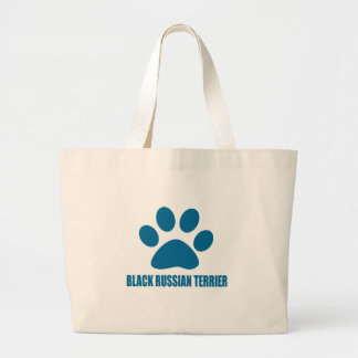 BLACK RUSSIAN TERRIER DOG DESIGNS LARGE TOTE BAG