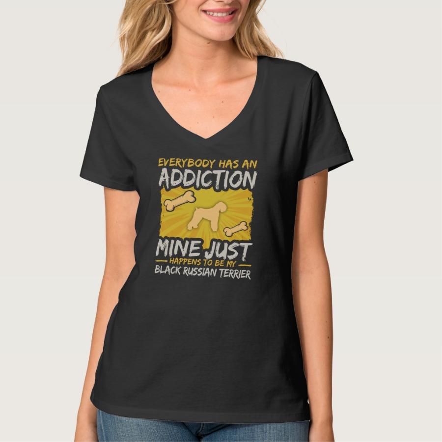 Black Russian Terrier Funny Dog Addiction T-Shirt - Best Selling Long-Sleeve Street Fashion Shirt Designs